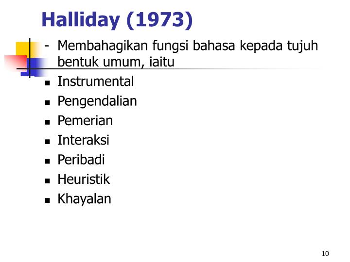 Halliday (1973)