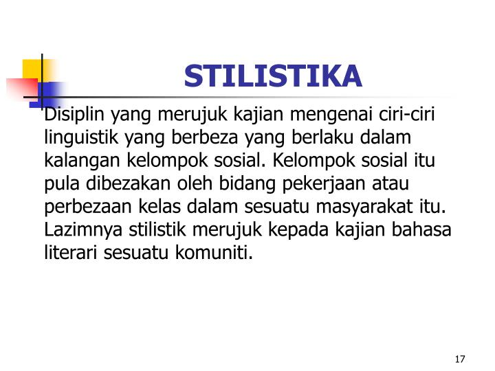 STILISTIKA