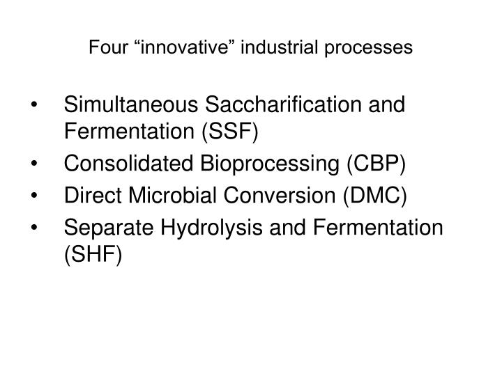 "Four ""innovative"" industrial processes"