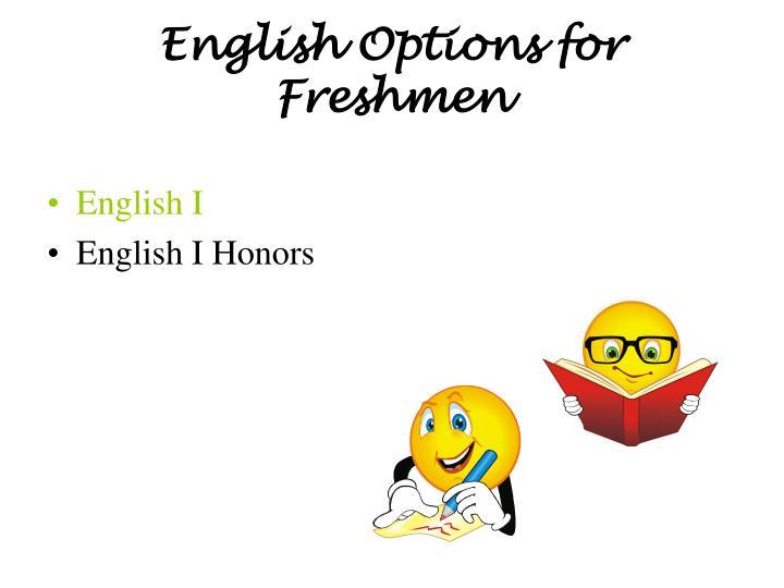 English Options for
