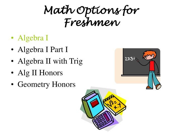 Math Options for