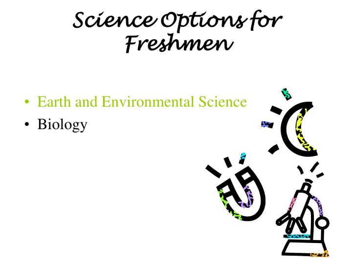 Science Options for