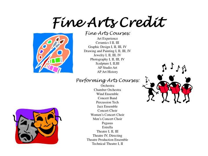 Fine Arts Credit