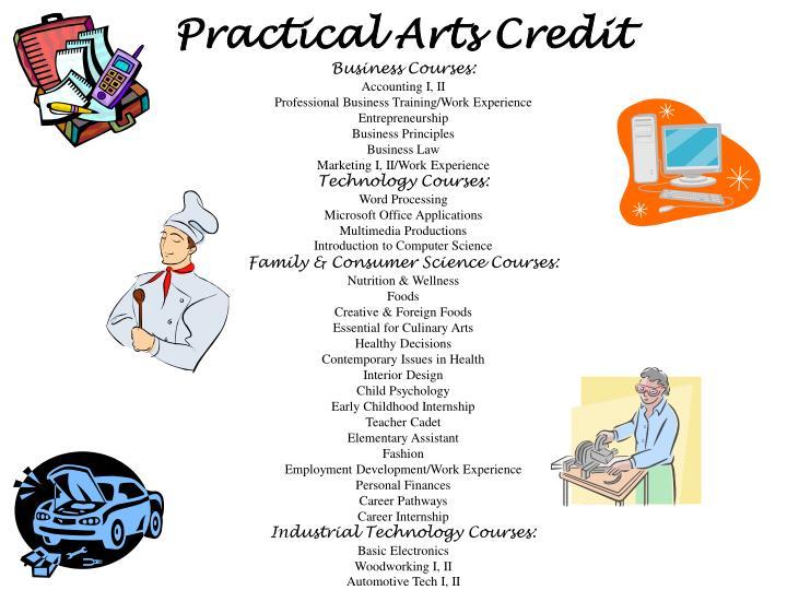 Practical Arts Credit
