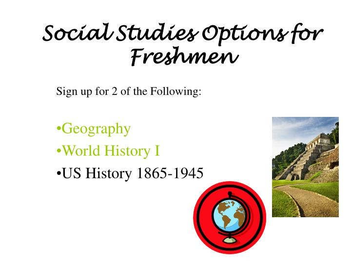 Social Studies Options for