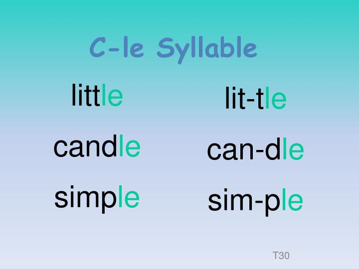 C-le Syllable