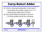 carry select adder