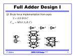 full adder design i