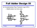 full adder design iii