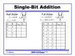single bit addition