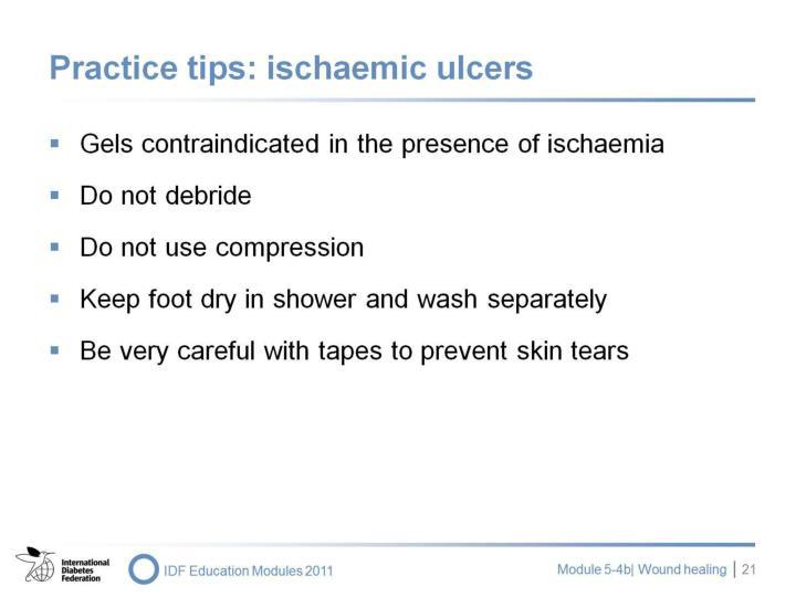 Practice tips: ischaemic ulcers