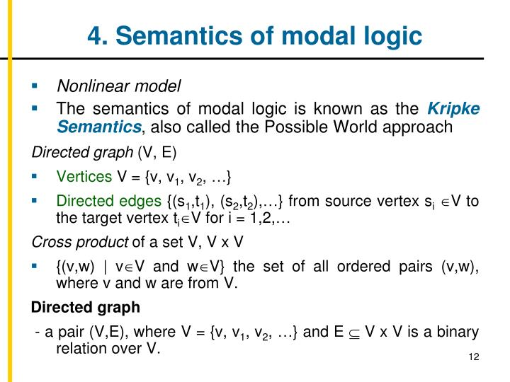 4. Semantics of modal logic