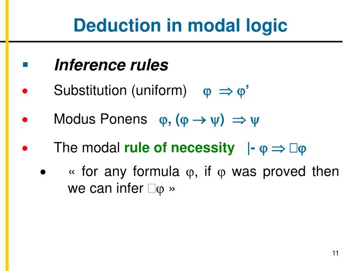 Deduction in modal logic
