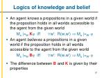 logics of knowledge and belief1