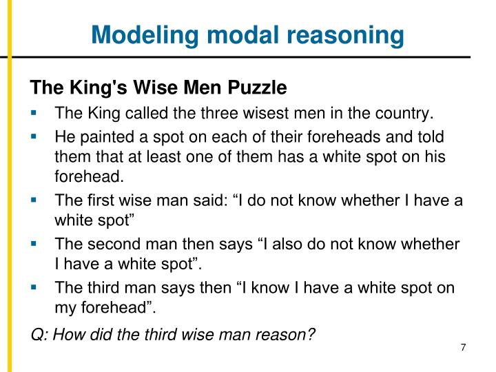 Modeling modal reasoning