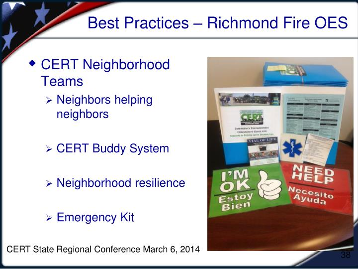 CERT State Regional Conference March 6, 2014