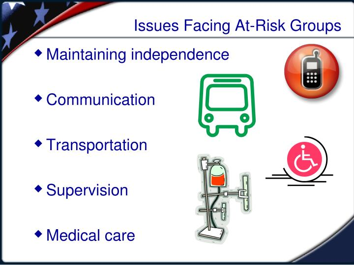 Issues Facing At-Risk Groups
