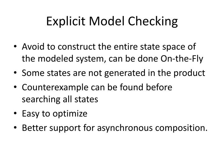 Explicit Model Checking