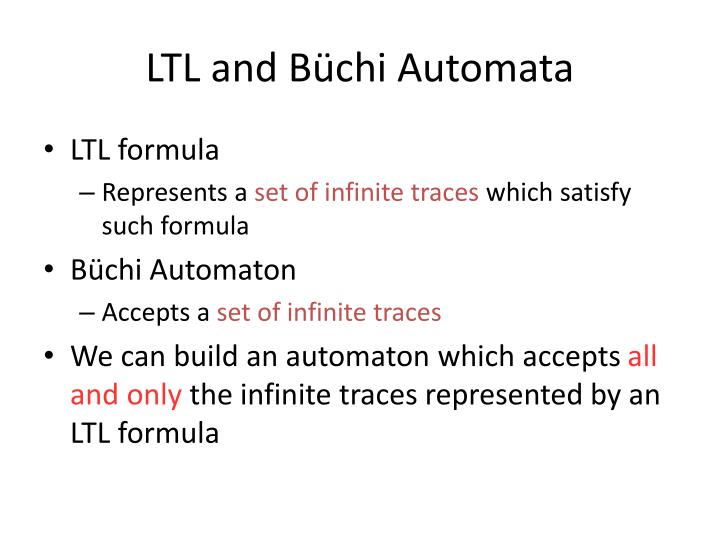 LTL and Büchi Automata