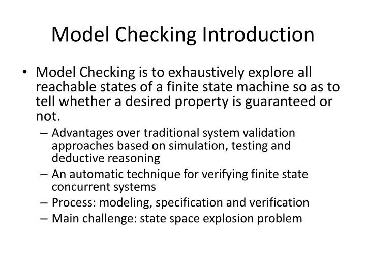 Model checking introduction