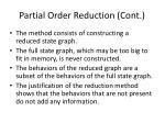 partial order reduction cont