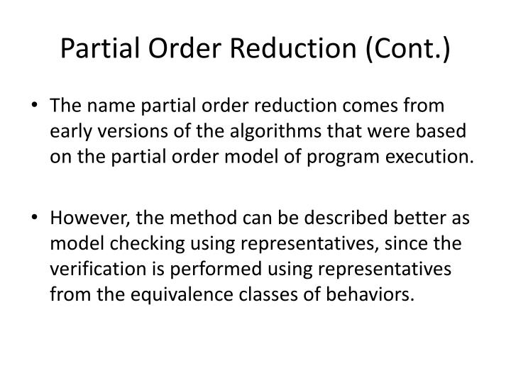 Partial Order Reduction (Cont.)