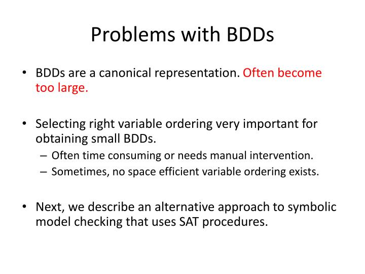 Problems with BDDs