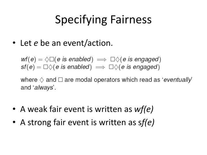 Specifying Fairness