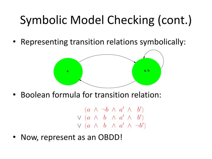 Symbolic Model Checking (cont.)