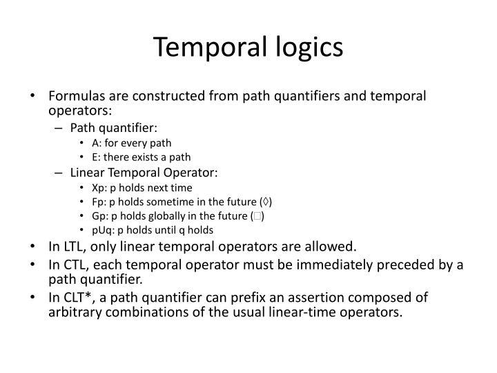 Temporal logics