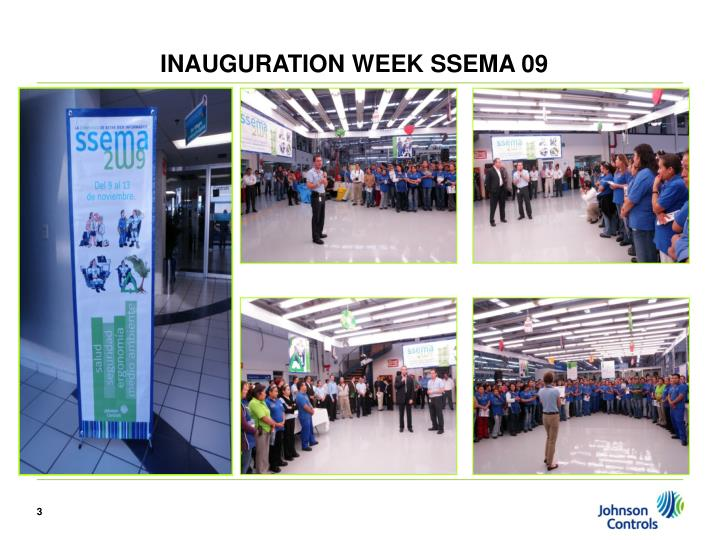 INAUGURATION WEEK SSEMA 09