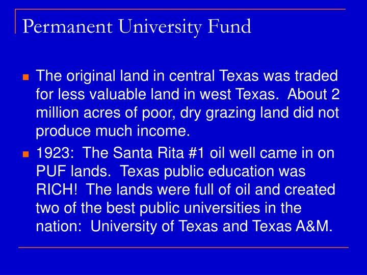 Permanent University Fund