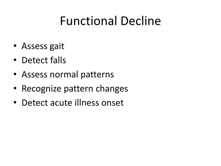 Functional Decline