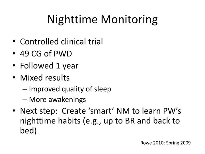 Nighttime Monitoring