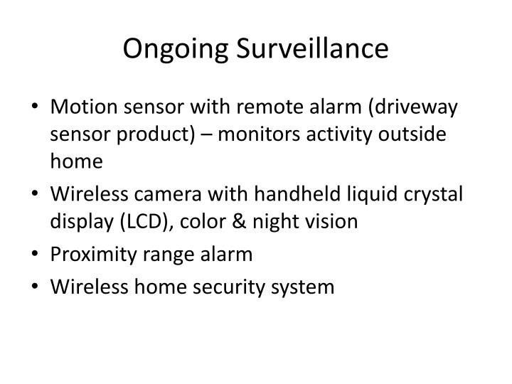 Ongoing Surveillance