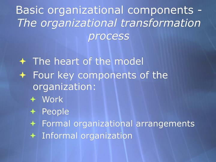 Basic organizational components -