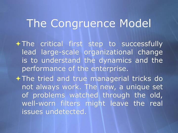 The congruence model1
