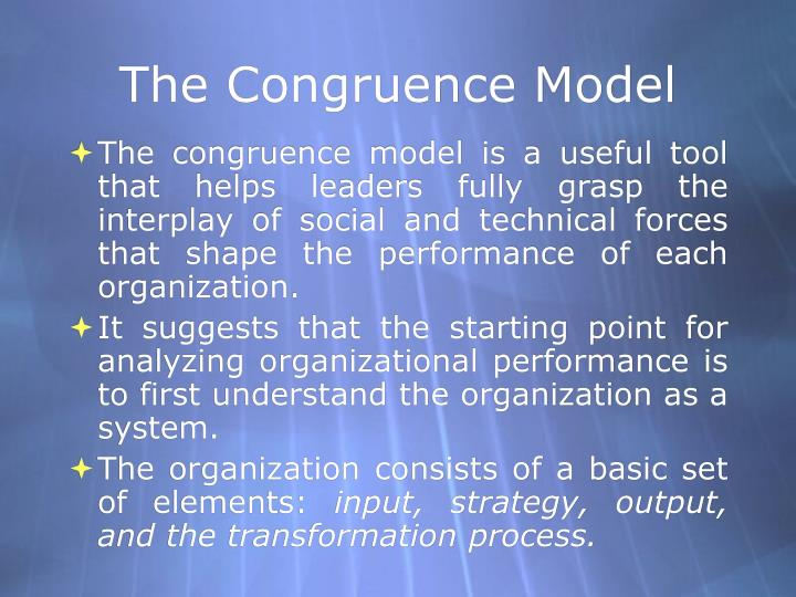The congruence model2