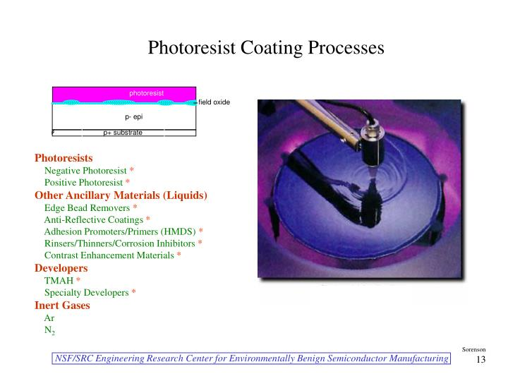 Photoresist Coating Processes