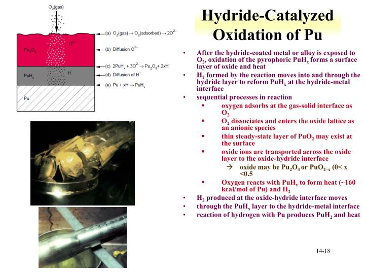 Hydride-Catalyzed Oxidation of Pu