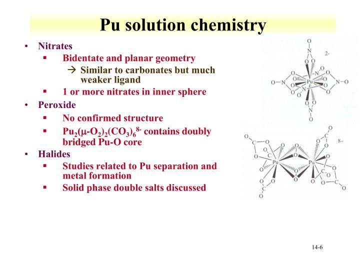 Pu solution