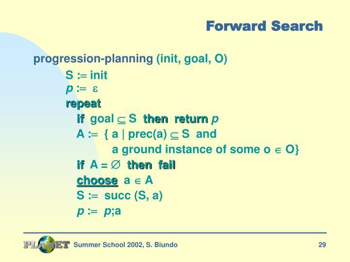Forward Search