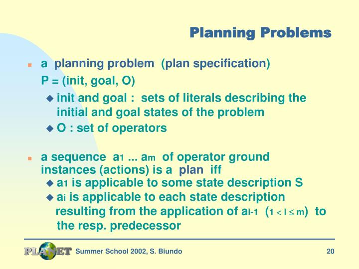 Planning Problems