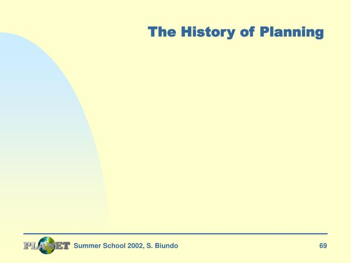 The History of Planning
