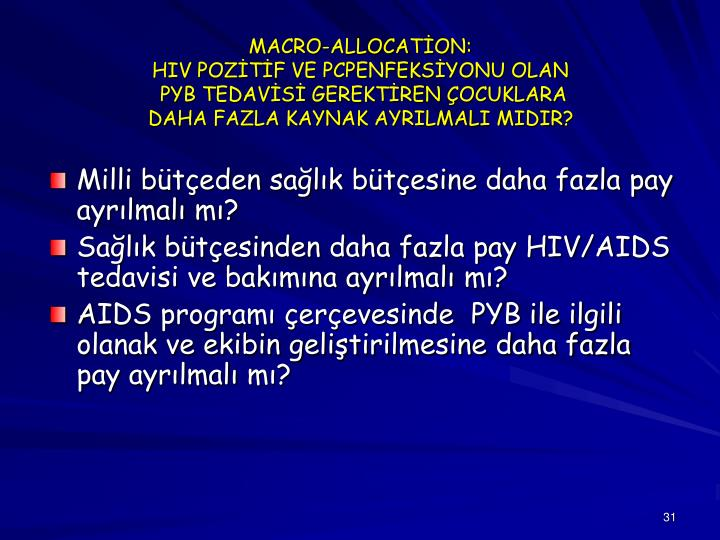 MACRO-ALLOCATİON: