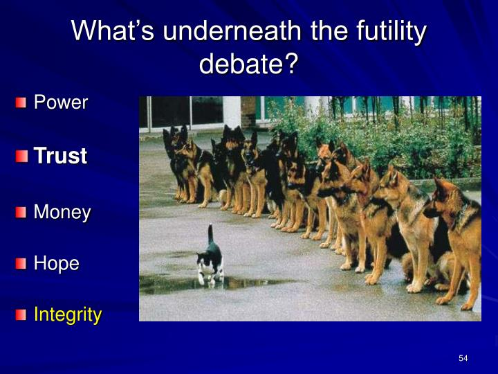 What's underneath the futility debate?