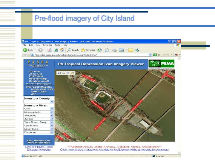 Pre-flood imagery of City Island