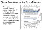 global warming over the past millennium