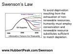 swenson s law
