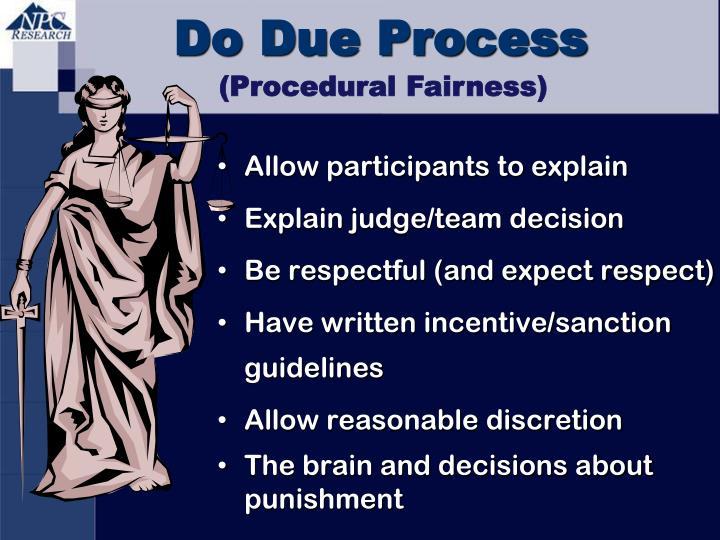 Do Due Process